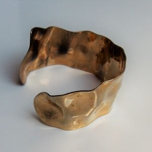 VTG Asymmetric Hammered Metal Cuff Bracelet